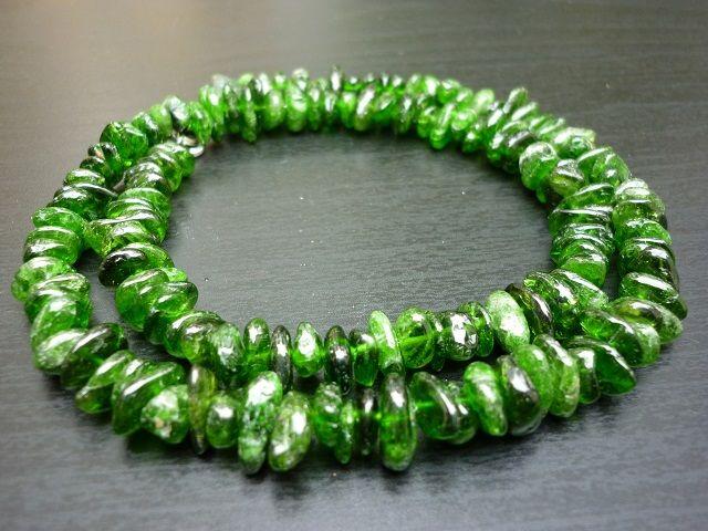 Chromdiopsid náhrdelník č.1