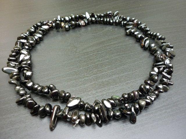 Obsidián náhrdelník 90 cm č.1