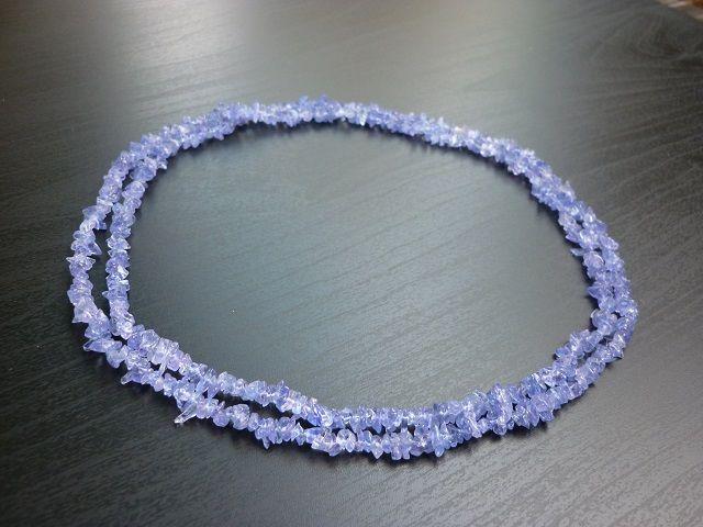 Tanzanit náhrdelník 90 cm č.1