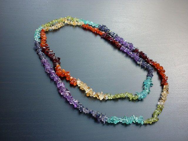 Čakrový náhrdelník 90 cm