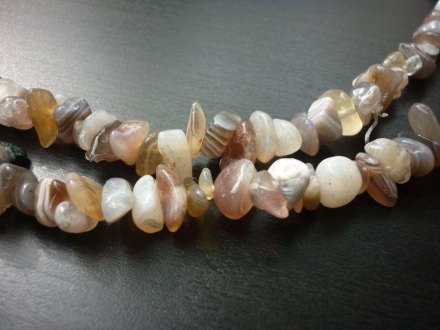 Achát náhrdelník sekaný 90 cm