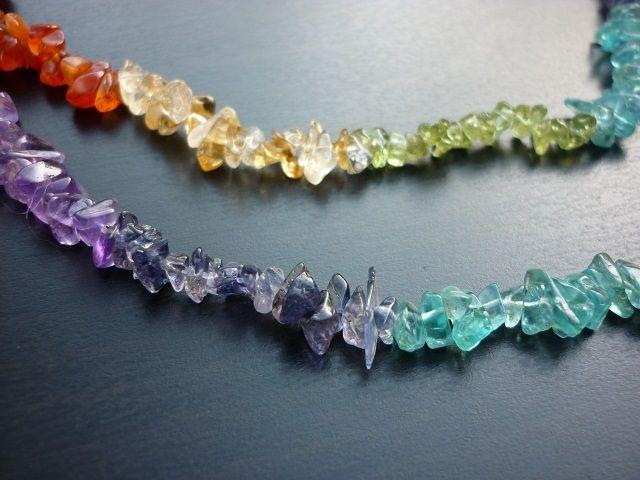 Čakrový mix náhrdelník 90 cm
