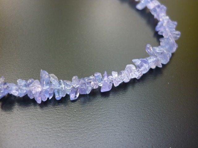 Tanzanit náhrdelník 45 cm