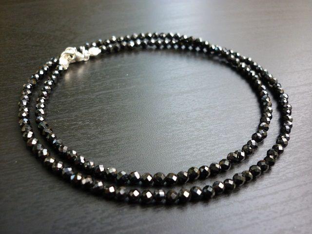 Spinel náhrdelník kuličky 3 mm faset