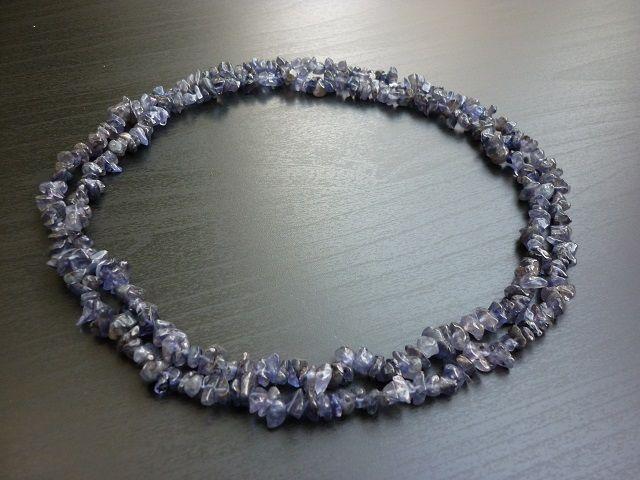 Iolit náhrdelník 90 cm