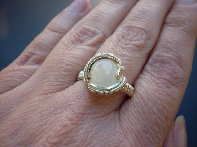 Měsíční kámen prsten č.1