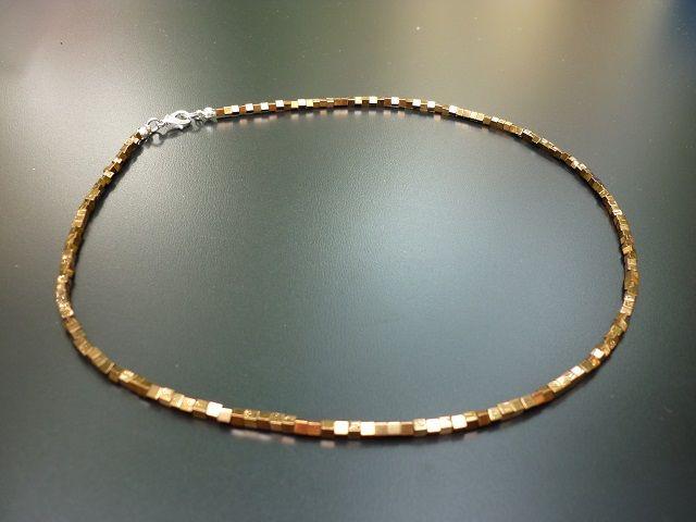Hematit bronzový náhrdelník kostky