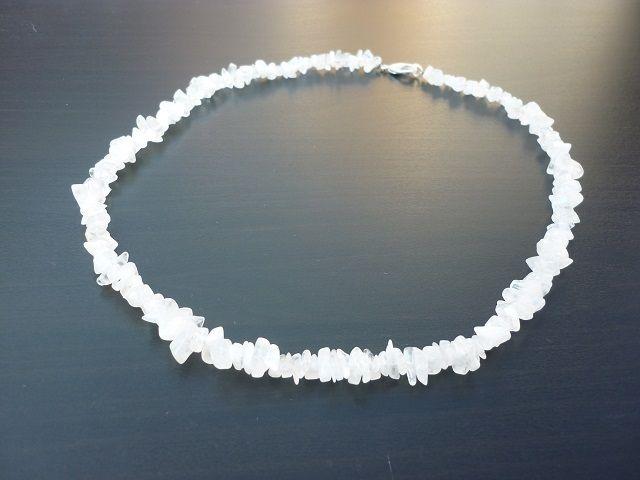 Měsíční kámen bílý náhrdelník 45 cm