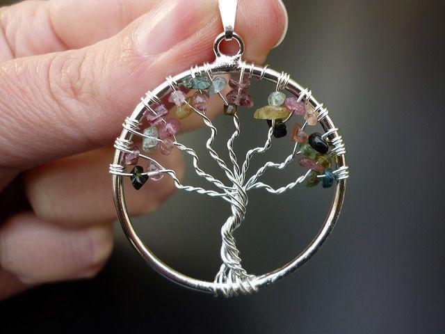 Turmalín přívěsek strom života