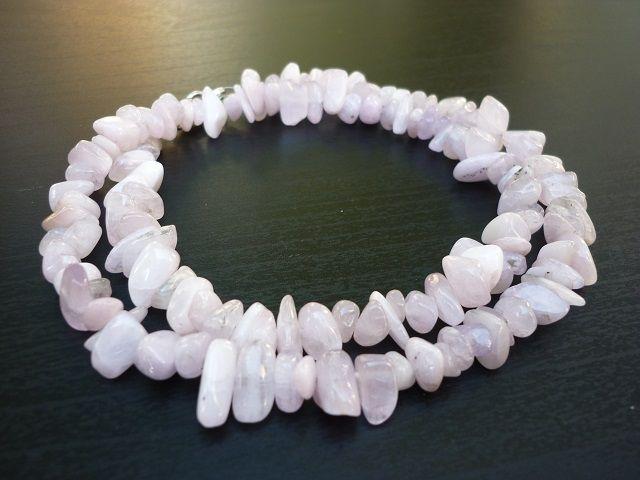 Kunzit náhrdelník 45 cm