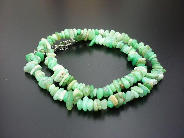 Chryzopras náhrdelník 45 cm
