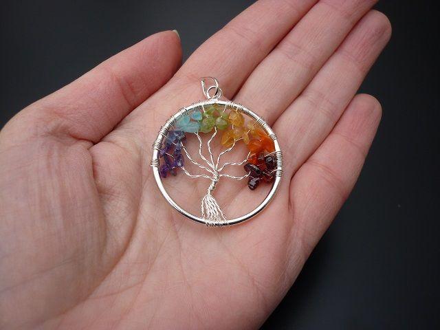 Čakrový přívěsek strom života