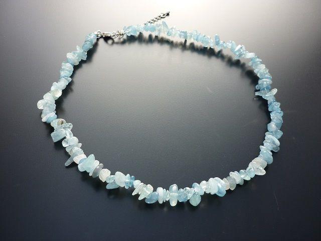 Akvamarín náhrdelník 45 cm
