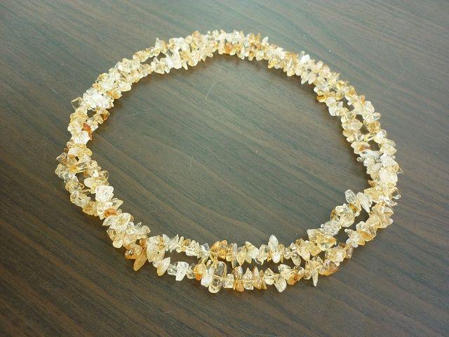 Citrín náhrdelník 90 cm