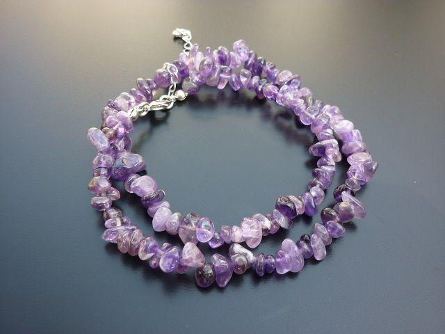 Ametyst náhrdelník 45 cm