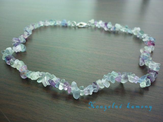 Fluorit náhrdelník 45 cm