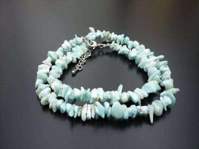 Larimar náhrdelník 45 cm