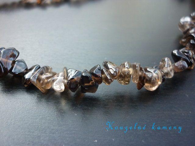 Záhněda náhrdelník sekaný 90 cm