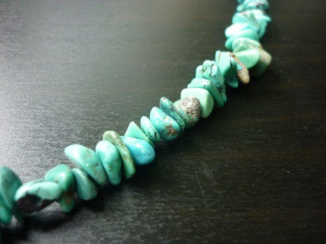 Tyrkys pravý náhrdelník dlouhý