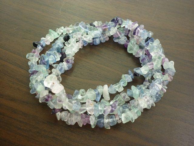 Fluorit náhrdelník 90 cm